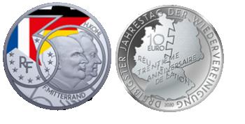 Argent Mitterrand / Kohl Colorisée BE Proof