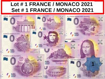 Lot 25 Billets FRANCE / MONACO # 1