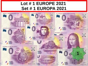 Lot 25 Billets EUROPE # 1